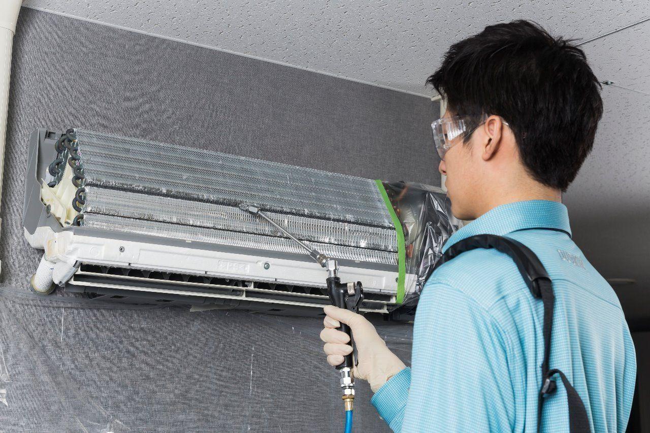 エアコン内部まで徹底的に洗浄空気にも家計にもやさしいクリーニング
